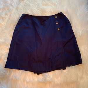 Talbots Wrap Skort Navy Blue Buttons